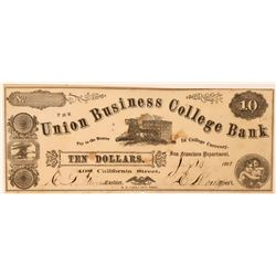 Union Business College Currency  (119743)