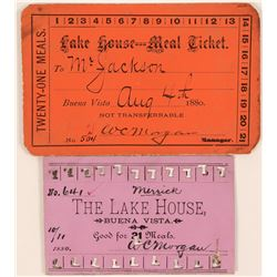 Lake House Meal Tickets  (119735)