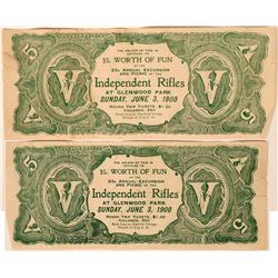 Glenwood Park $5 Scrip, 1900  (116723)