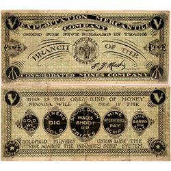 Exploitation Mercantile Company Scrip, Goldfield, Nevada Labor Strike  (119114)