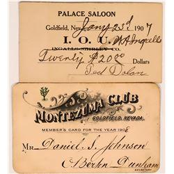 Palace Saloon/Montezuma Club Scrip  (119142)