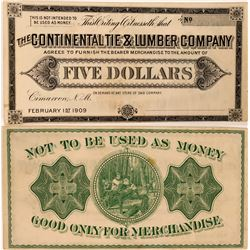 Continental Tie & Lumber Company Scrip  (119741)