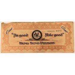 Sing Sing Prison $1 Scrip Certificate  (111803)