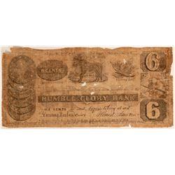 1837 Humbug Glory Bank Satirical Bank Note  (113344)