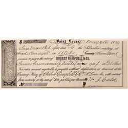 Fort Bridger Utah Territory Promissory Note  (119729)