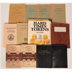 Hard Times and Civil War Token Books (12)  (119503)