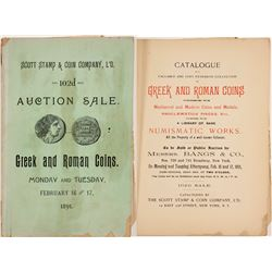 Scott Stamp & Coin Greek and Roman Auction Catalog  (61948)