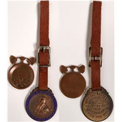 Rodeo Collectables: 1913 Winnipeg Frontier Days FOB and Butte Miniature Genuine Copper Pan  (11