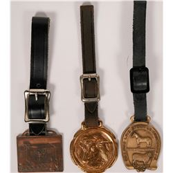 Three Western Themed Watch FOBs of Horses and Cattle  (118184)