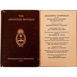 "Panama-Pacific Exposition Book ""The Argentine Republic,"" San Francisco  (117297)"