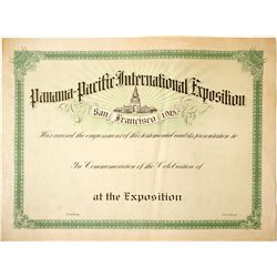 Pan Pacific Large Certificate  (85158)