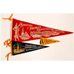 Banners from 3 Expositions: Golden Gate, San Francisco, San Diego  (117163)