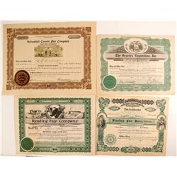 East Coast Expo Stock Certificates (4)  (82759)