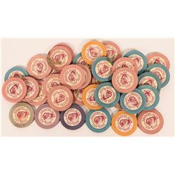 Vintage Gambling Ephemera: Country Club, Lake Tahoe Roulette Gaming Chips  (113226)