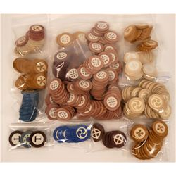 Vintage Gambling: Huge Group of Gaming Chips  (117470)