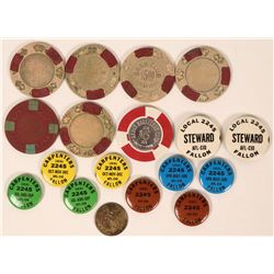 Nevada pin-backs and Gaming Tokens  (116747)