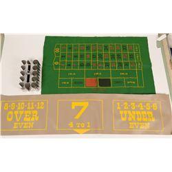 Antique Chip Tray & Game Felt  (117954)