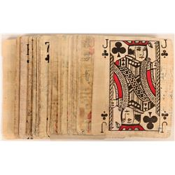 Vintage Egyptian Papyrus Playing Cards  (118894)
