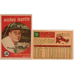 Mickey Mantle Topps 1959 Baseball Card #10 VF  (111942)