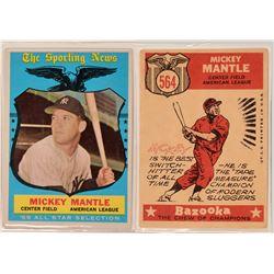 Mickey Mantle 1959 All Star Baseball Card, Topps #564, VF  (111979)