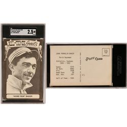 """Home Run"" Baker TCMA Postcard  (119235)"