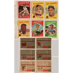 1959 Topps Baseball Cards From Six Hall of Famers  (111980)