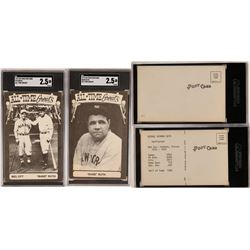 All-Time Greats Babe Ruth & Mel Ott Postcards  (119210)