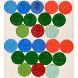 Baseball token coins 1959-1960  (118018)