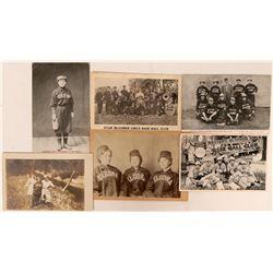 Early Women's Baseball Postcards  (119695)