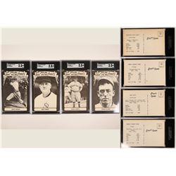 Four HOF Baseball Postcards  (119232)
