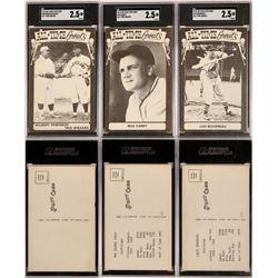 Max Carey, Lou Boudreau & Speaker Robinson Postcards  (119214)