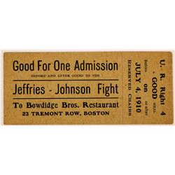 Boxing Ticket Jeffries-Johnson Fight  (117176)