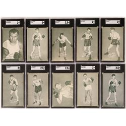 Exhibits Boxer Cards from 30's & 40's  (119169)