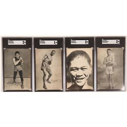 Four 1920's Black Boxer Postcards  (117206)