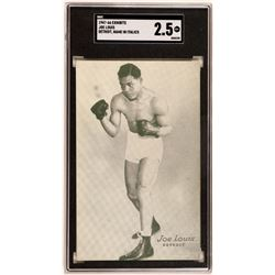 Joe Louis Exhibit Card  (119255)