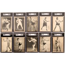 Lot of 10 Early 20th Century Boxers Postcards  (119248)