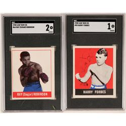 Sugar Ray Robinson and Harry Forbes Bubble Gum Cards  (117205)