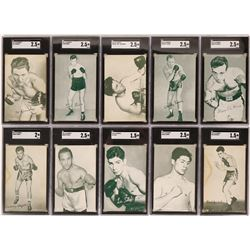 Ten 1940's to 50's Exhibits Boxer Cards  (119268)