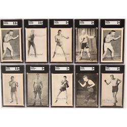 Ten Boxer Postcards from 1920's  (117209)