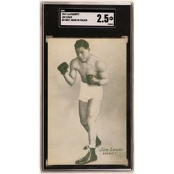 Joe Louis, The Brown Bomber Exhibit Card  (119257)
