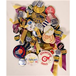 College Sports Pin Backs  (119164)