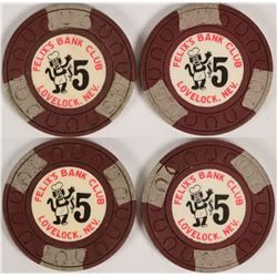 Felix's Bank Club $5 Poker Chips (112809)