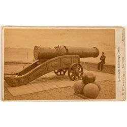 CDV Photo of Cannon Mons Meg Edinburgh, Scotland  (117283)