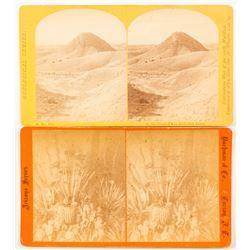 Two Arizona Stereoviews: Mescal Plant and Vermilion Mesa  (54613)