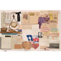 Fresno Collectibles: Documents, Ribbons, & More Ephemera  (113087)