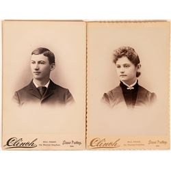 Clinch of Grass Valley Fame, Cabinet Card Pair     (118155)