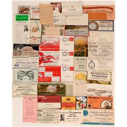 L.A. Area Advertising Blotters Including Floriston Pulp & Paper near Truckee (33)  (118331)