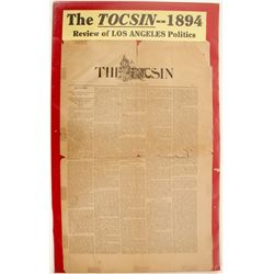 The Tocsin 1894 Newspaper  (63114)