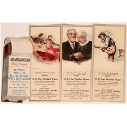 Palo Alto Soda Works Advertising Blotters (3) Plus One from Framington Bottling Co.   (118305)