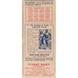 Portola, CA Milk Advertising Blotter  (118344)